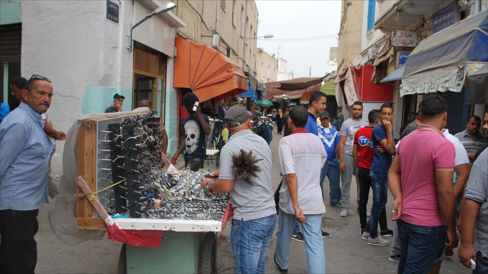 الحركة التجارية بين تونس وليبيا
