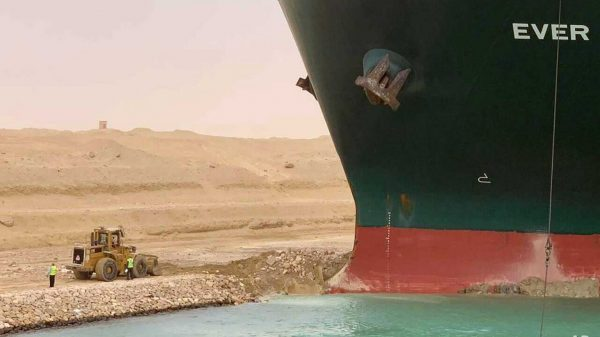 Stranded Suez Canal Ship