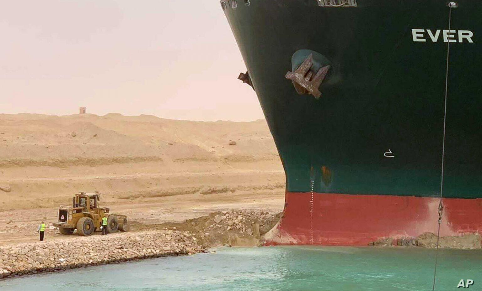 Stranded Suez Canal Ship