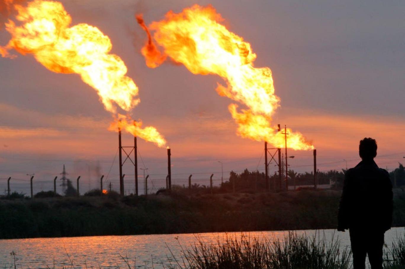 الغاز المحترق