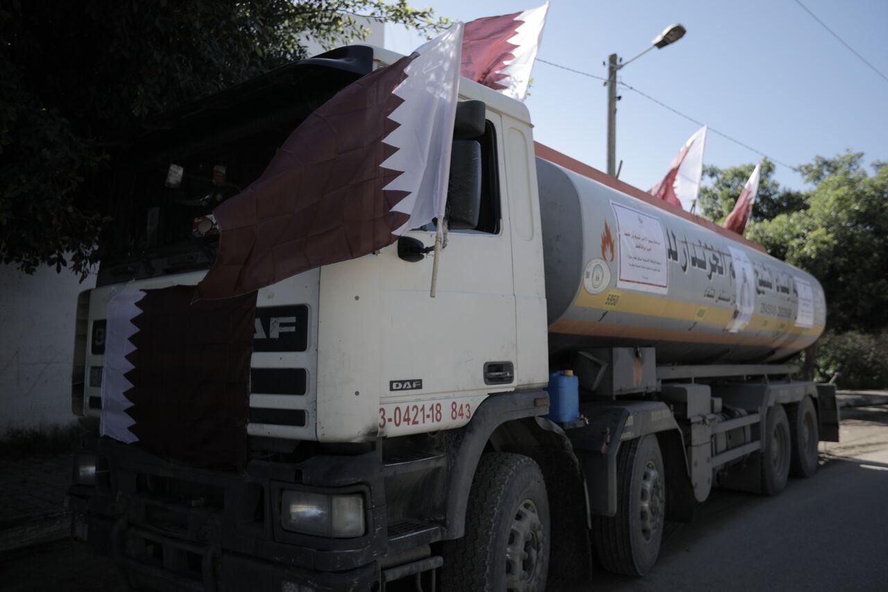 Qatari fuel Gaza